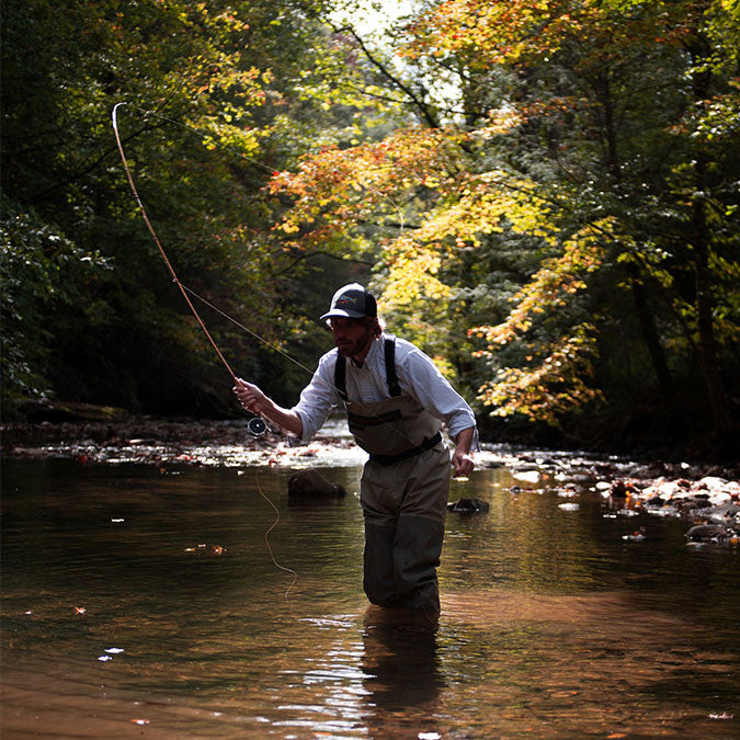 Lifestyle Shot of John Hollifield's Bamboo Fly Rod for The Sporting Gent