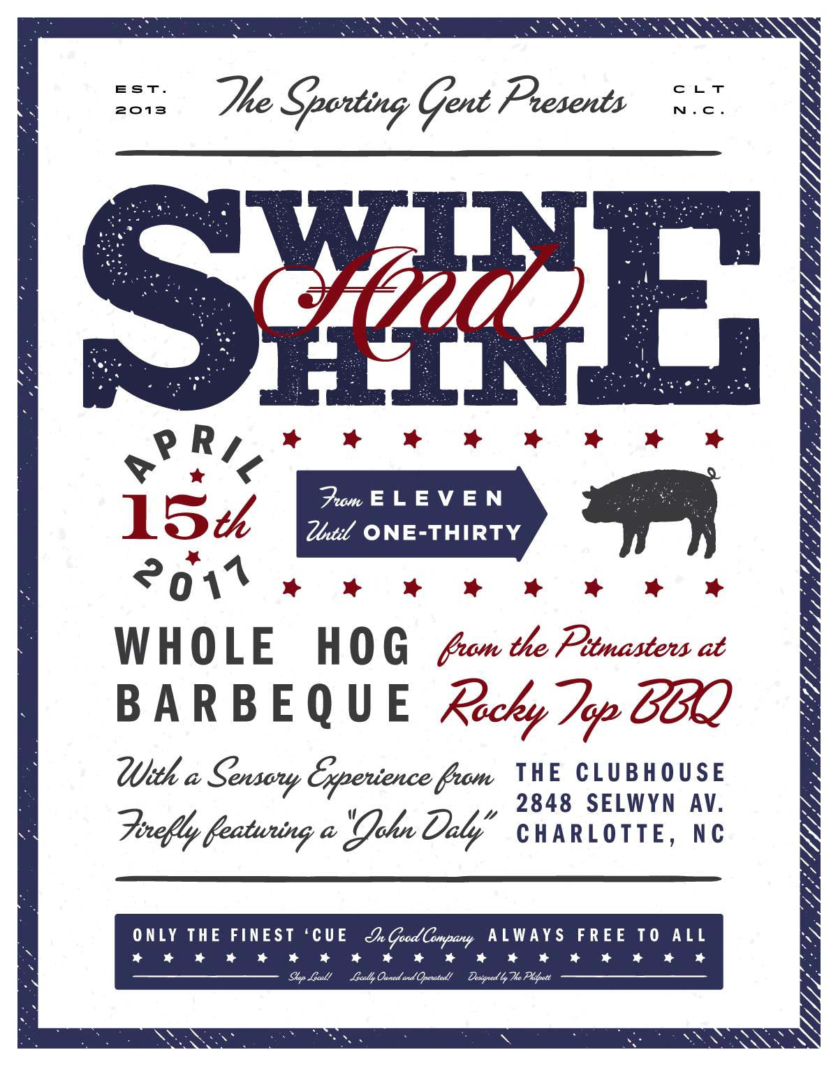 Swine and Shine Poster