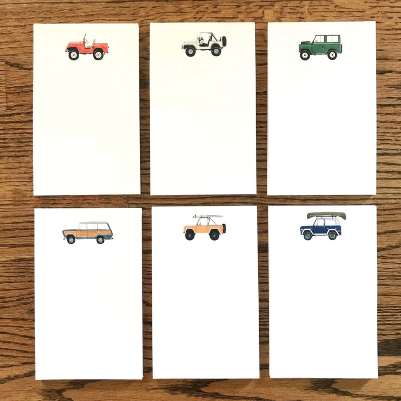 Holly Graham Vintage SUV Notepads