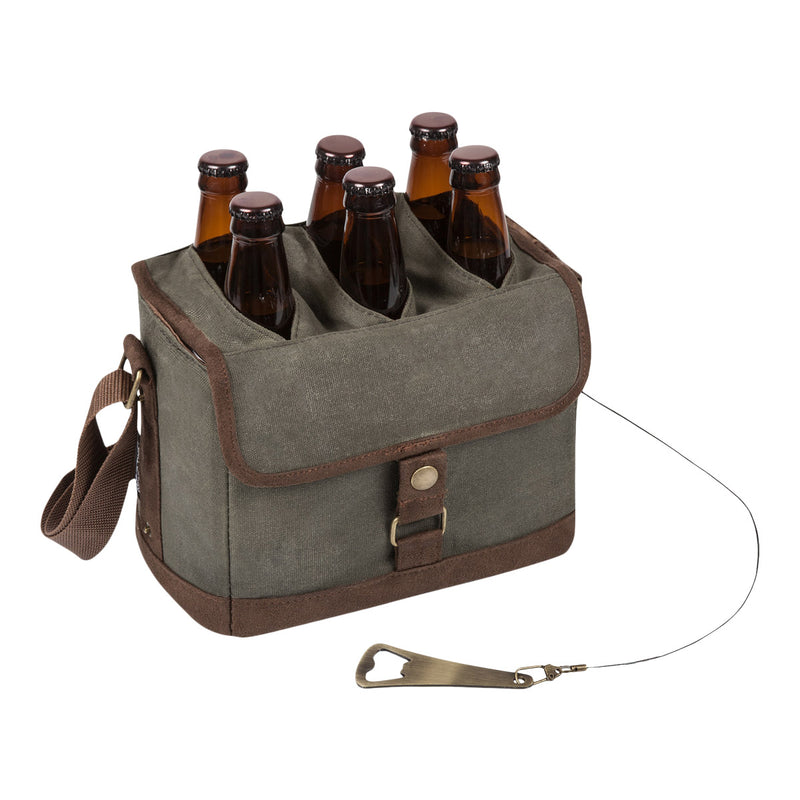 Waxed Canvas Beer Caddy Cooler Tote
