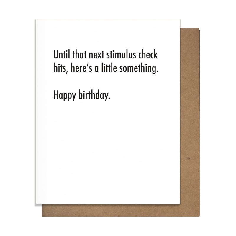 Pretty Alright Goods Stimulus Check Greeting Card