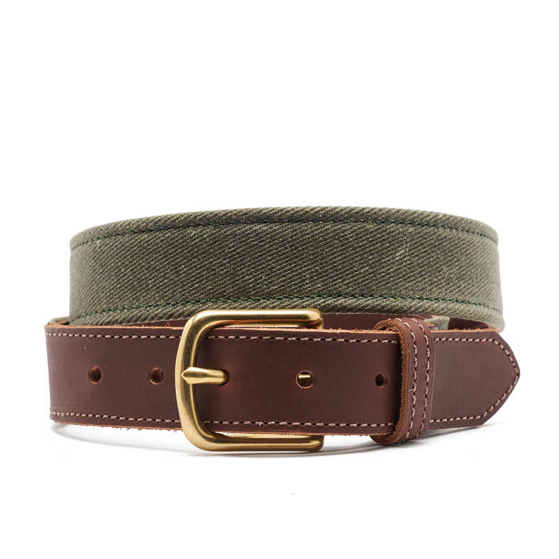 TSG Waxed Cotton & Leather Field Belt