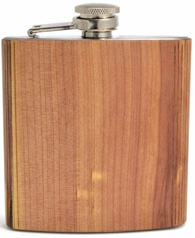 Autumn Summer Wood Hip Flask