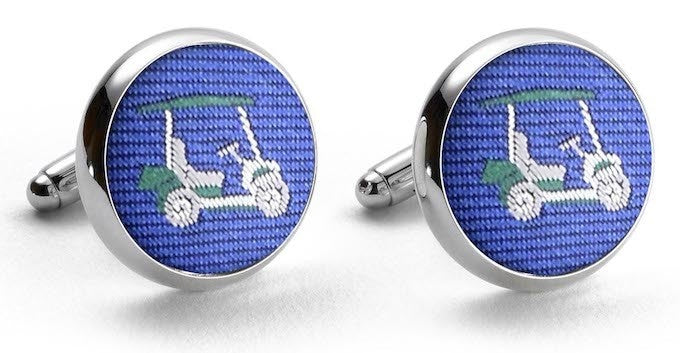 Bird Dog Bay Golf Cart Cufflinks