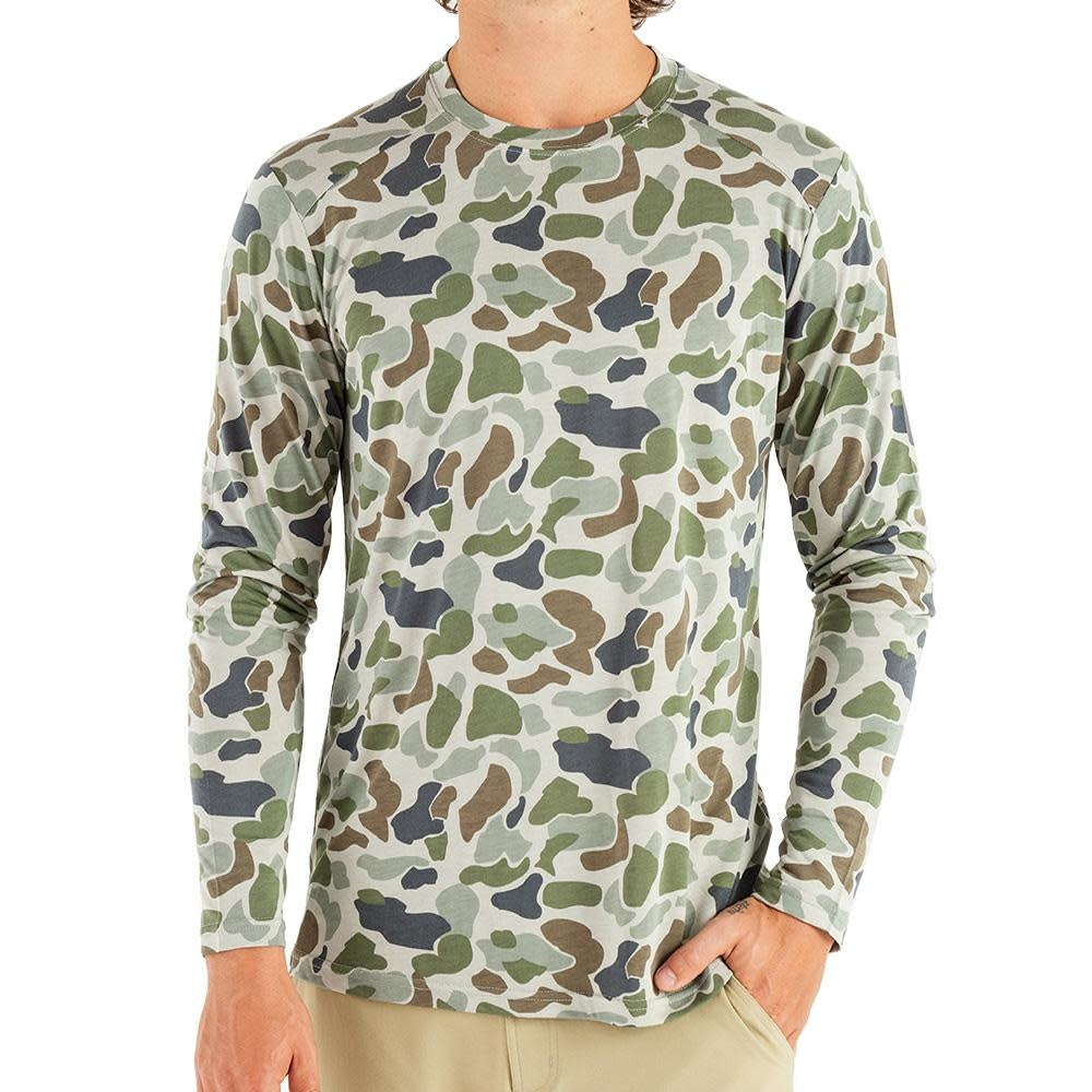 Free Fly Lightweight Camo Long Sleeve Tee