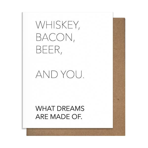 Pretty Alright Goods Whiskey and You Greeting Card