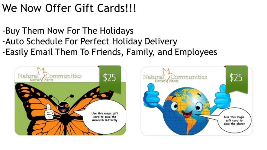 Native Plant Gift Cards Are Here