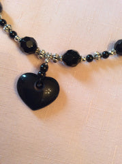 Heart Pendant Choker with Matching Earrings