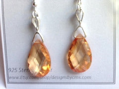 "Swarovski Crystal Pear Drop Earring ""One of a Kind"""