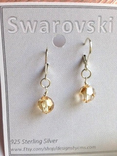 "Swarovski Crystal Drops ""One of a Kind"""