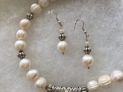 SOLD Fresh Water Pearls Pendant Necklace & Earrings