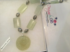 Pale Green Jade Pendant Necklace
