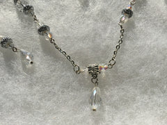 Crystals and Sparkling Bead Necklace & Earring Set