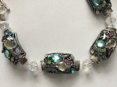 Vintage Bead Bracelet with Genuine Crystals