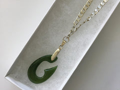 Delicate Jade Pendant on Chain