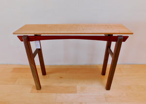 Tiger Maple Hall Table