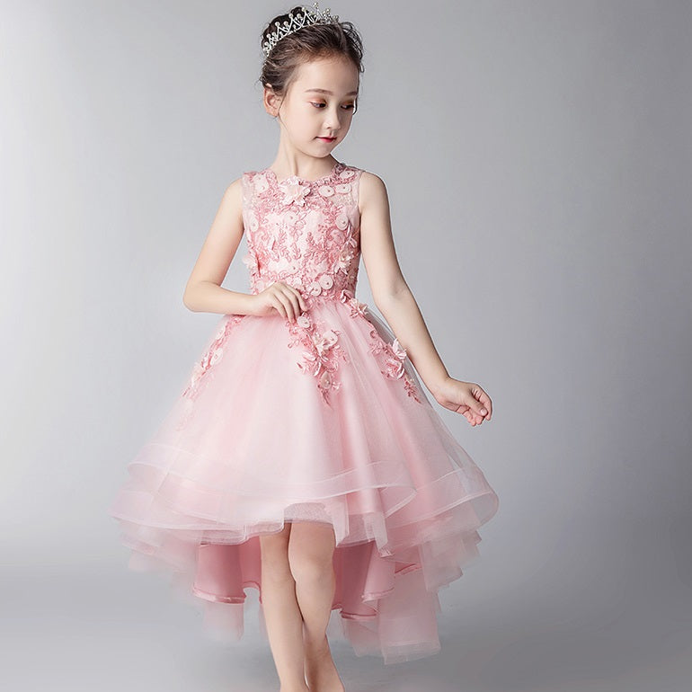 Summer Jupiter Pink Tulle High-Low Dress