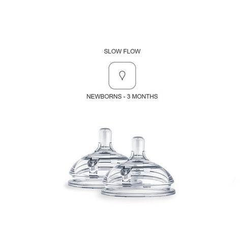 Comotomo Silicone Nipples 2-Pack Slow Flow