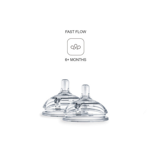 Comotomo Silicone Nipples 2-Pack Fast Flow