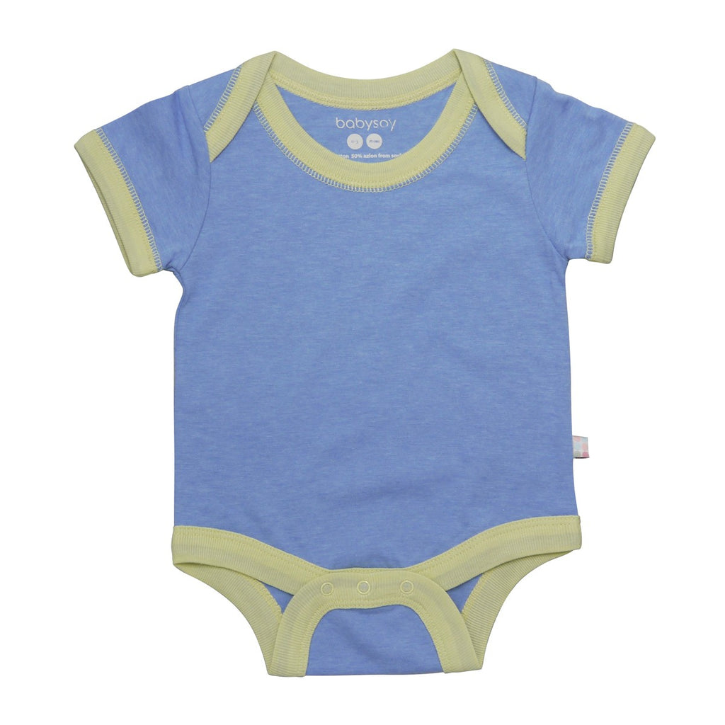 Babysoy Basic S/S Bodysuit - Lake Blue