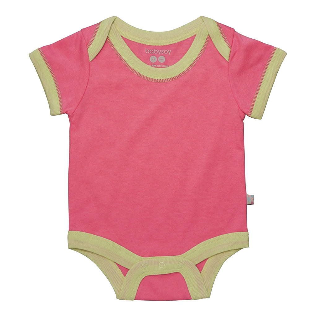 Babysoy Basic S/S Bodysuit - Pink Lemonade