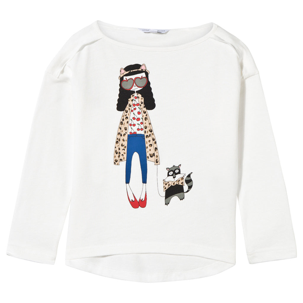 Little Marc Jacobs LS Essential Miss Marc Tee-Shirt