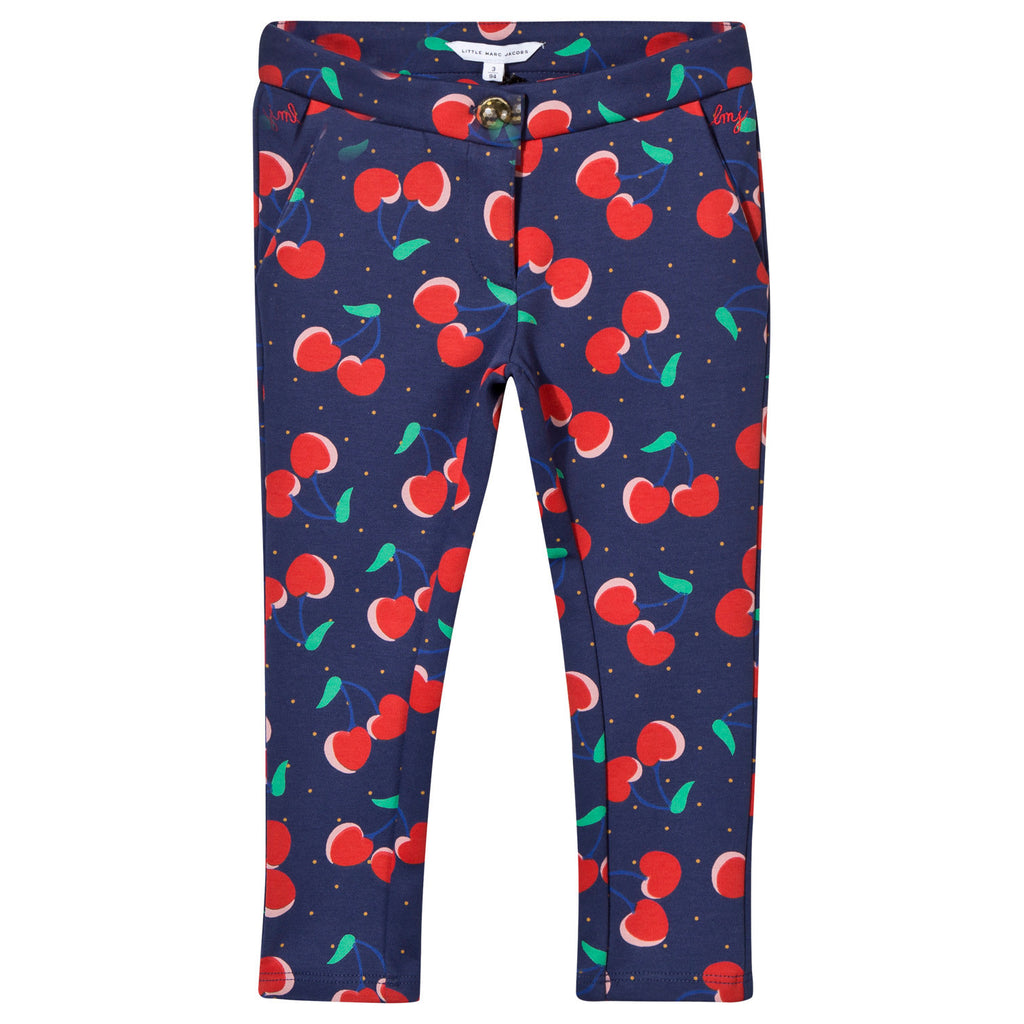 Little Marc Jacobs Milano Cherry All Over Printed Trousers