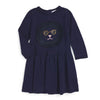 Little Marc Jacob Knitted Navy Top Kitty with Fancy Frange FW16