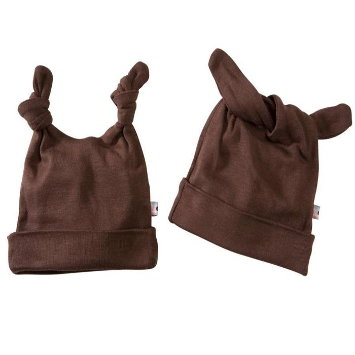 Babysoy Double Knot Beanie - Chocolate
