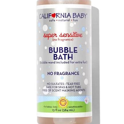 California Baby Super Sensitive Bubble Bath