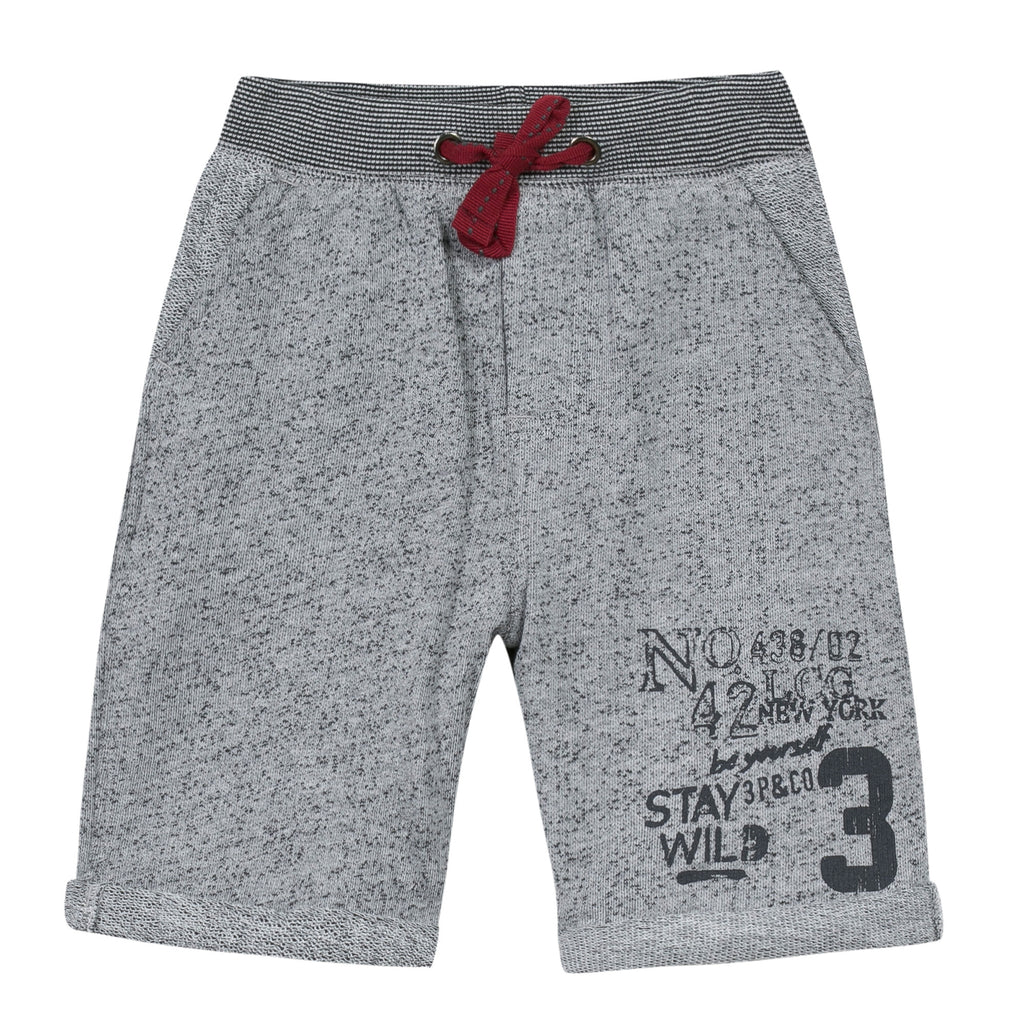 3 Pommes Charcoal Grey Red Roots Bermudas