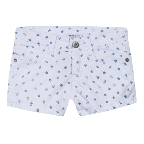 3 Pommes Jazzy Blues Shorts (White Sky)