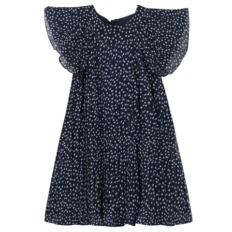 3 Pommes Navy Blue Star Dress