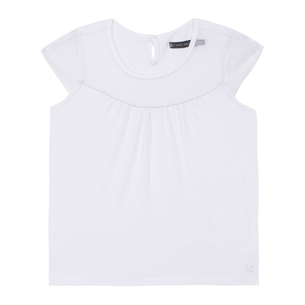 Jean Bourget J-Little Couture Kid Fille Tee-Shirt White