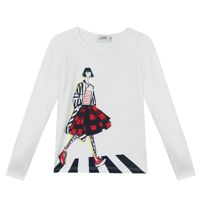 Junior Gaultier Women in Red Skirt Tee FW16