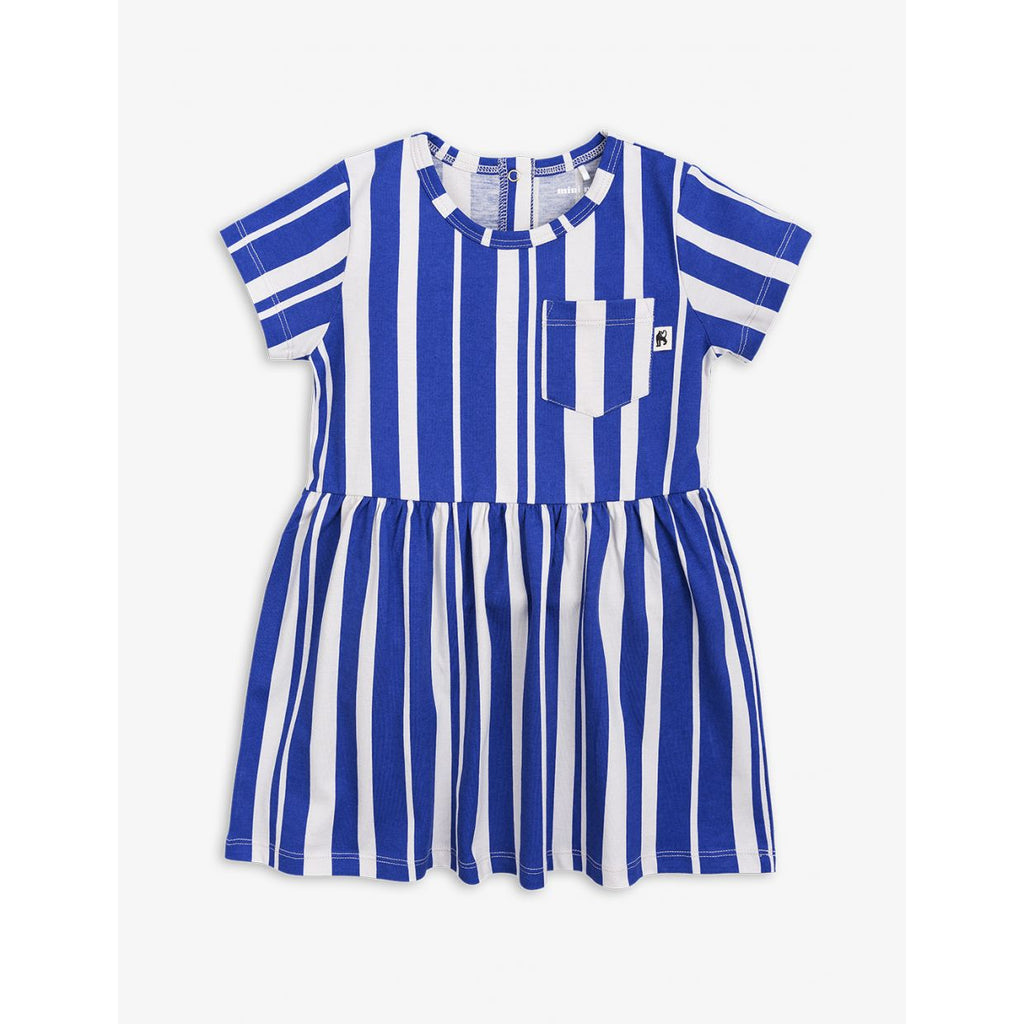 Mini Rodini Odd Stripe S/S Dress - Blue