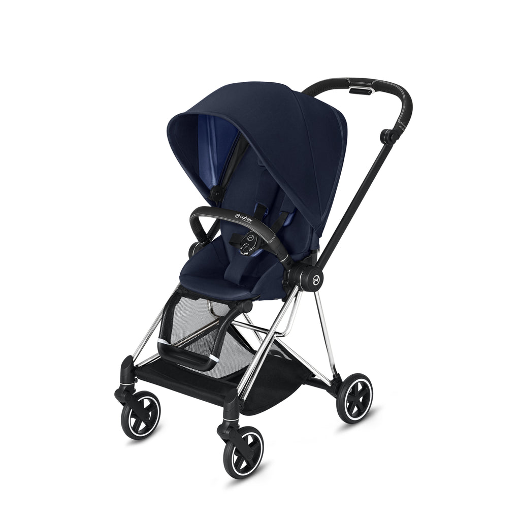 Cybex Mios 2 Chrome/Black + Indigo Blue Seat