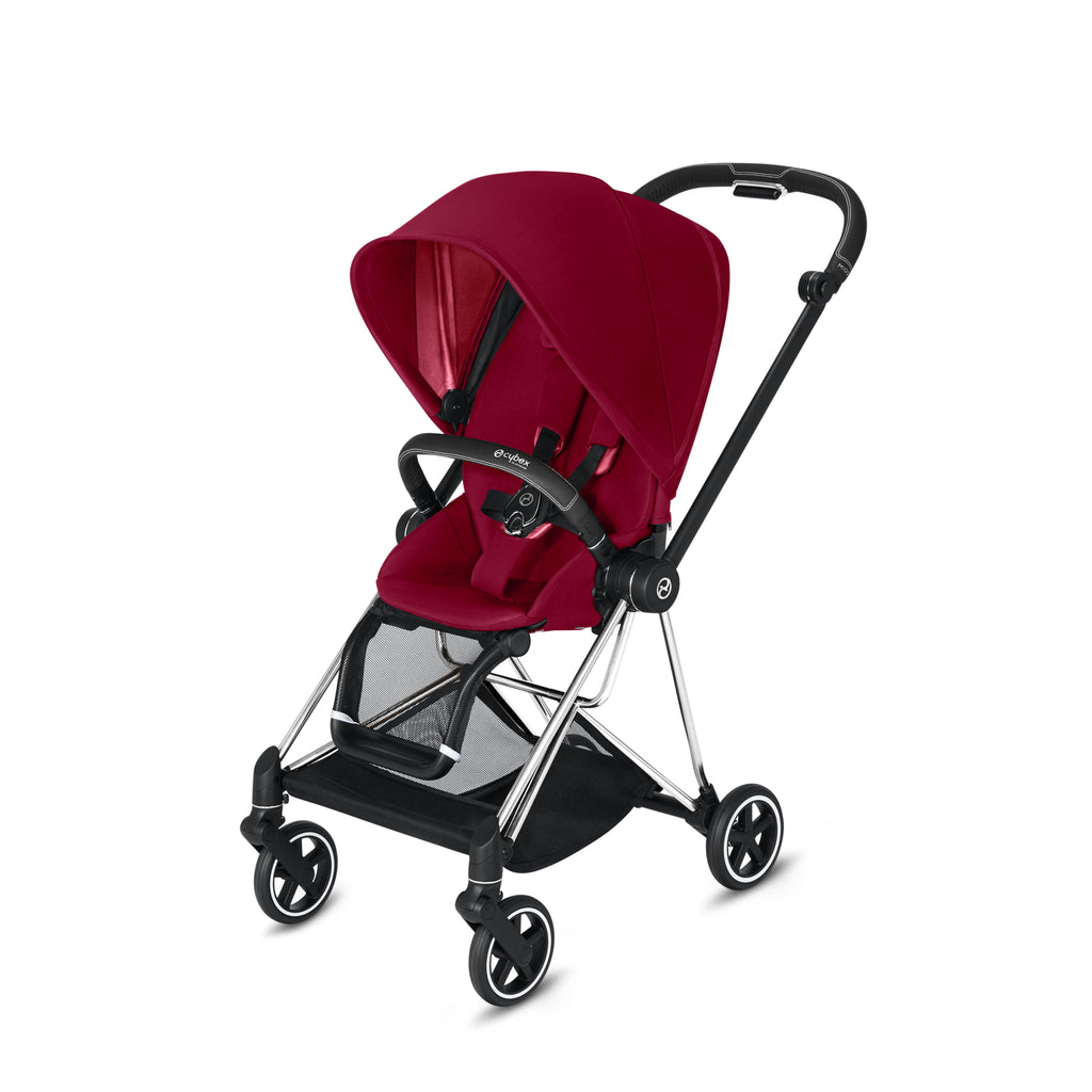 Cybex Mios 2 Chrome/Black + True Red Seat