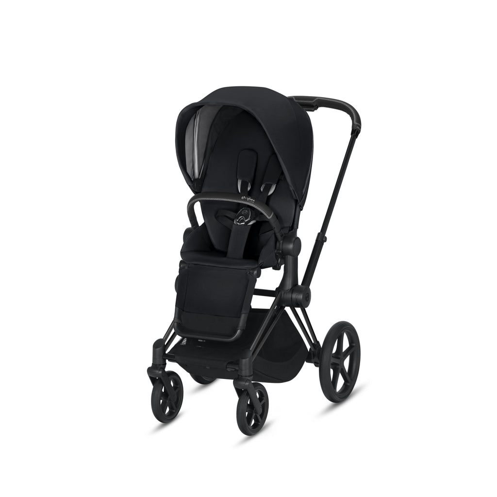 Cybex 2019 Priam- Matte Black Frame + Premium Black Seat (One Box)