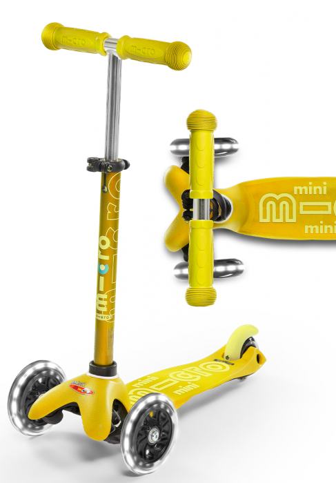 Micro Kickboard Mini Deluxe LED - Yellow