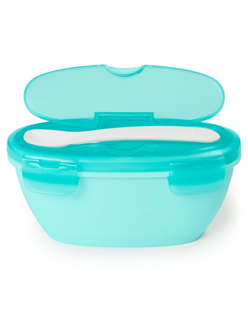 Skip Hop Easy Serve Travel Bowl & Spoon - Teal