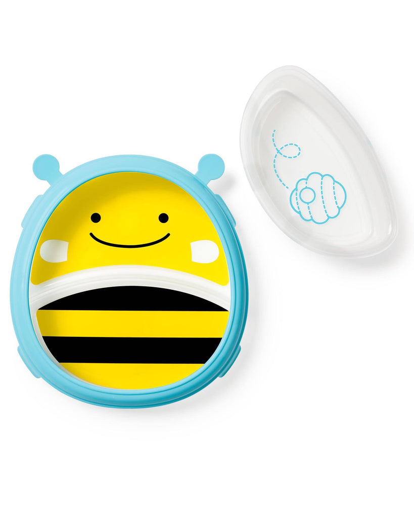 Skip Hop Zoo Smart Serve Plate & Bowl  -Bee