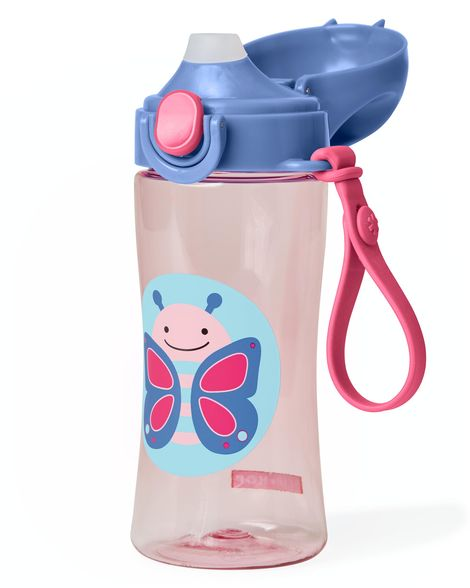 Skip Hop Zoo Lock-Top Sports Bottle - Butterfly
