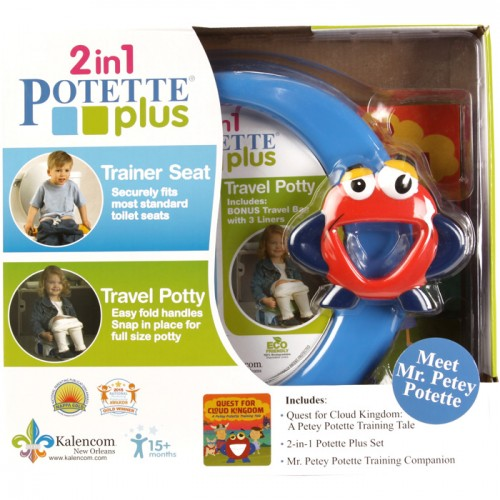 Potette Plus 2-in-1 Travel and Trainer Set w/Mr. Petey Potette Book