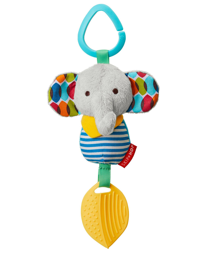 Skip Hop Bandana Buddies Chime Teether Toy - Elephant