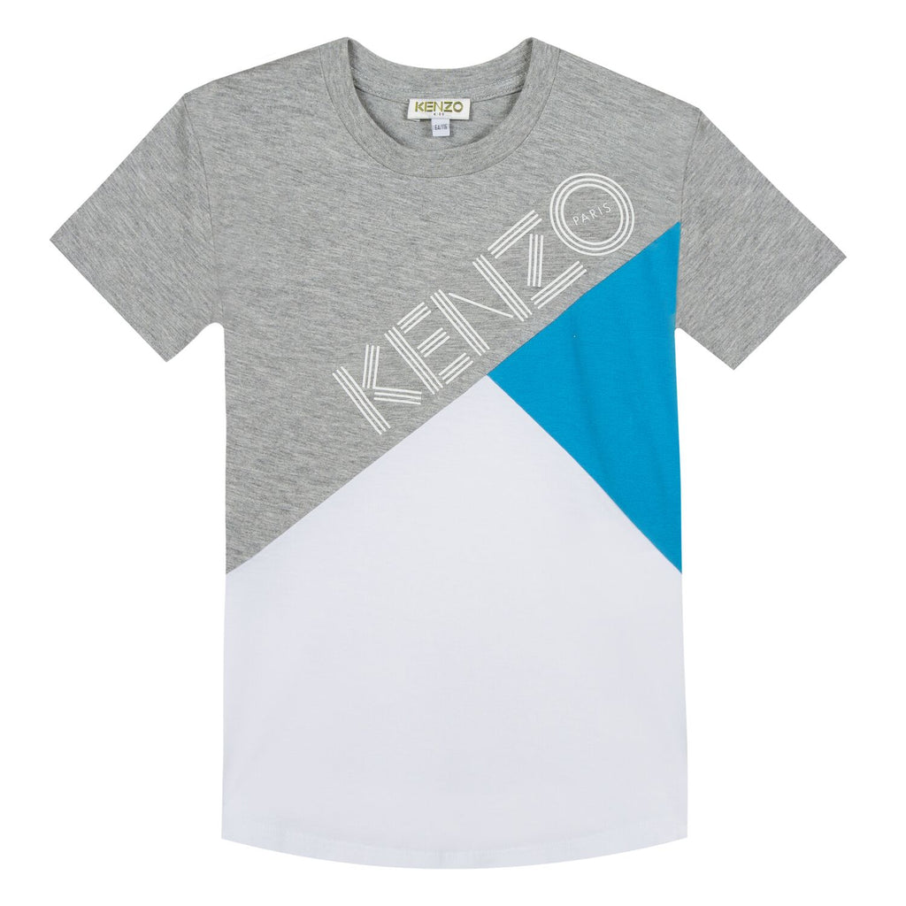 Kenzo Grey/White/Blue- Tee Shirt