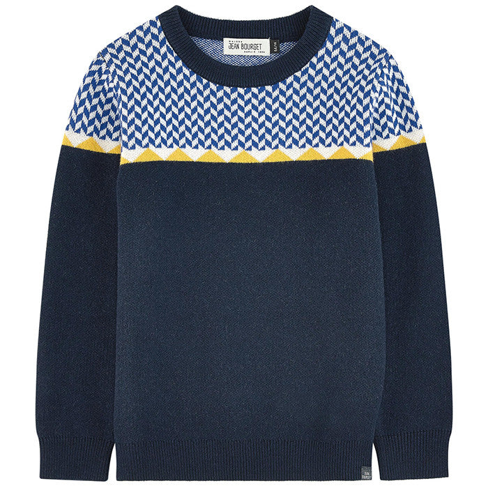 Jean Bourget Marine Pull Jacquard Sweater FW16