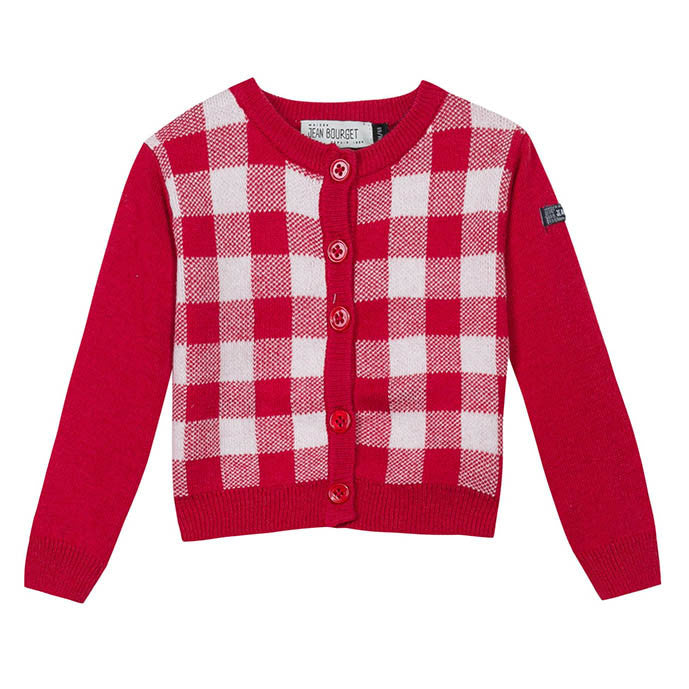 Jean Bourget Arty Layette Rouge Cardigan FW16