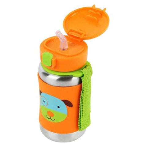 Skip Hop Zoo SS Straw Bottle - Dog