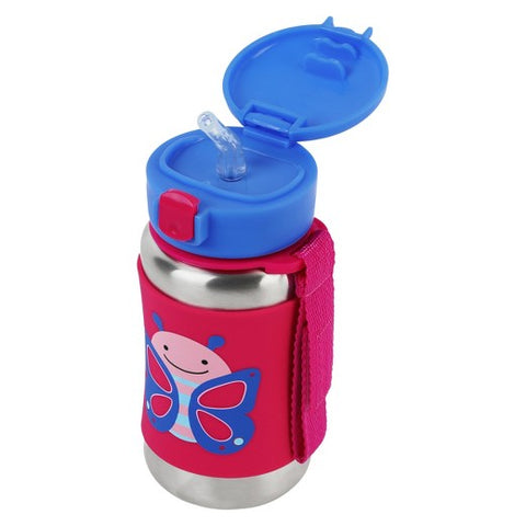 Skip Hop Zoo SS Straw Bottle - Butterfly